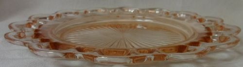 "Old Colony Pink Luncheon Plate 8.25"" Hocking Glass Company"