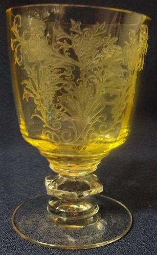 "Cordelia Mandarine Oyster Cocktail 4"" Tiffin Glass Company"