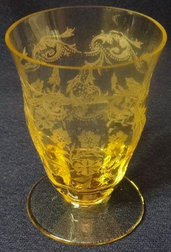 "Rosalina Mandarin Oyster Cocktail 3"" Tiffin Glass Company"