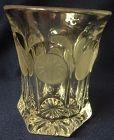 "Coin Crystal Water Tumbler Flat 4.25"" Fostoria Glass Company"