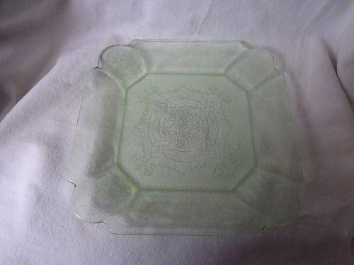 "Lorain Green Salad Plate 7.75"" Indiana Glass Company"