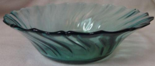 """Swirl Ultramarine Bowl 5.5"""" Jeannette Glass Company"""