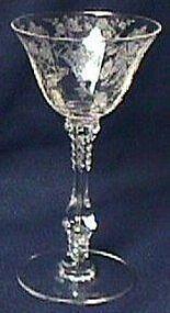 Cambridge Rose Point Crystal Relish 3500/61