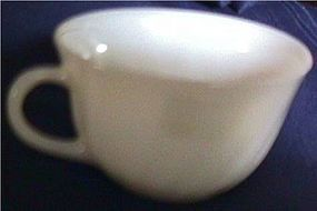 Swirl White Fire King Cup and Saucer