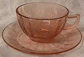Floral Pink Cup and Saucer