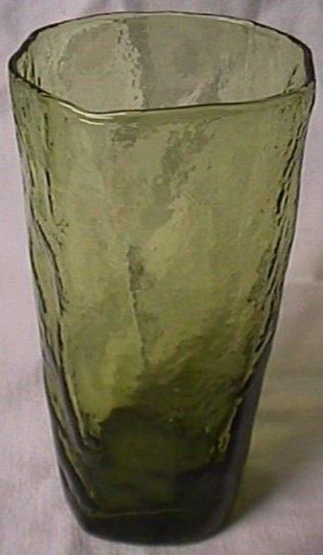 Morgantown Crinkle Green Tumbler