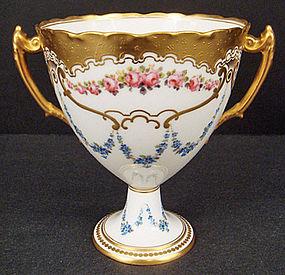 Exquisite Antique R. C. Derby Loving Cup Vase