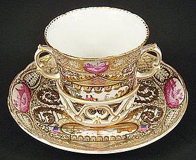 Antique KPM Berlin Trembleuse Chocolate Cup & Saucer