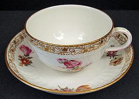 Lovely Antique KPM Berlin Tea Cup & Saucer