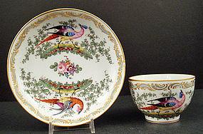 Antique Samson French Tea Cup & Saucer