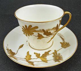 Antique Ott & Brewer Belleek Tea Cup & Saucer