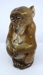Royal Copenhagen Porcelain Mama Monkey