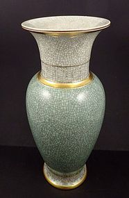 Mid Century Royal Copenhagen Baluster Crackle Vase