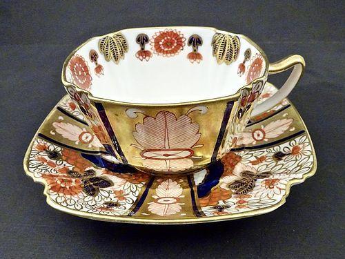 Antique Copeland & Sons Imari Tea Cup & Saucer