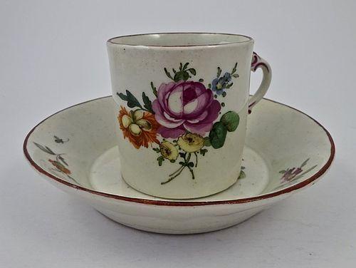 18th C. Ludwigsburg German Tea Cup & Saucer