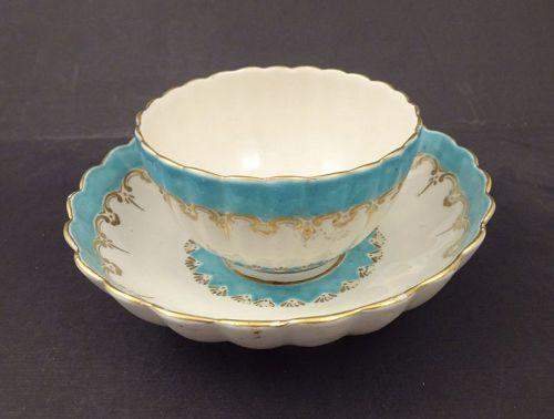 Antique Chelsea Derby Tea Bowl & Saucer
