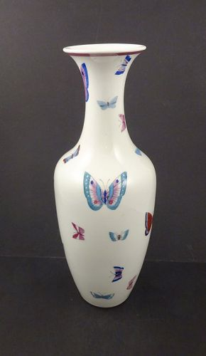 Nymphenburg Mid-Century Butterfly Vase, 11 3/4 Inches