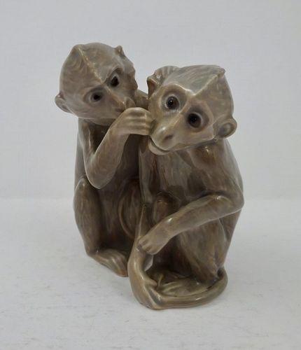Vintage Bing & Grondahl Grooming Monkeys