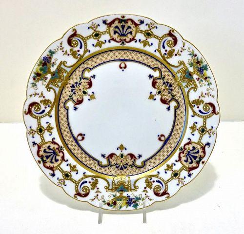 Rare KPM Royal Berlin Jeweled Cabinet Plate