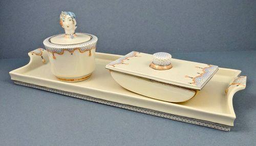 Art Deco KPM Royal Berlin Porcelain Desk Set