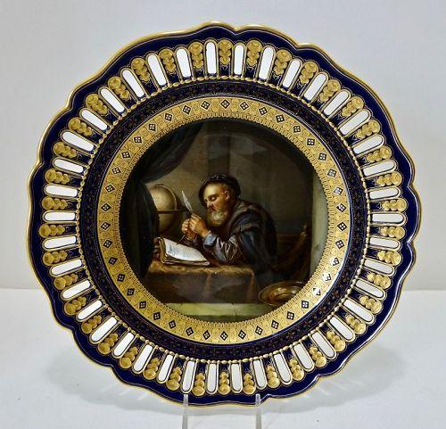 Antique Meissen Old Masters Plate, �Galileo��