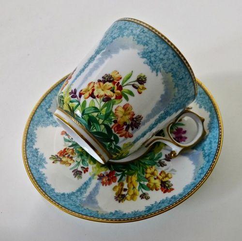 Antique Copelands Tea Cup & Saucer,  Floral