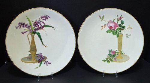 Antique Pair of Mintons Plates, Japonesque Style