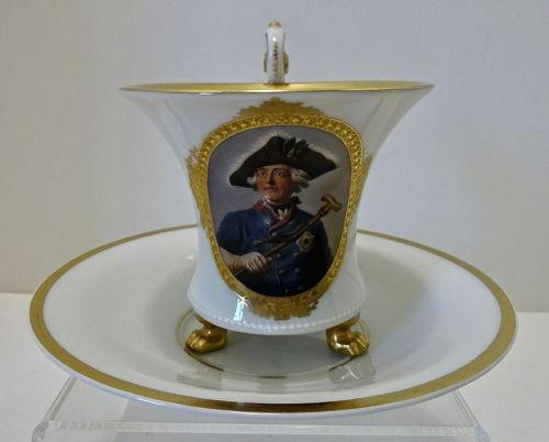Royal Berlin Chocolate Cup & Saucer, Portrait