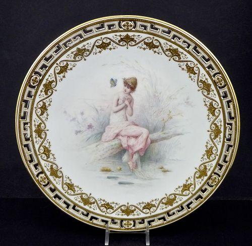 Mintons Cabinet Plate, A. Boullimier