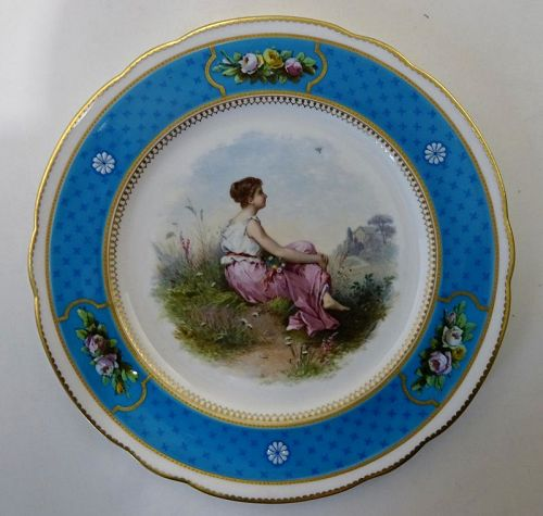 Brownfield�s Cabinet Plate for Tiffany, French Enamel  A