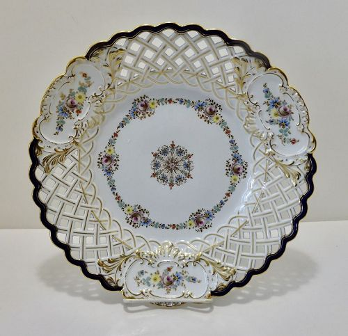Antique Meissen Charger/Platter, Reticulated