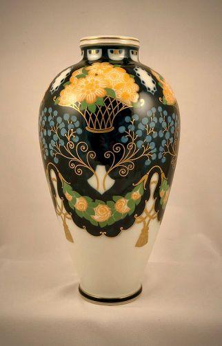 Art Nouveau Sevres Vase, H. Lasserre