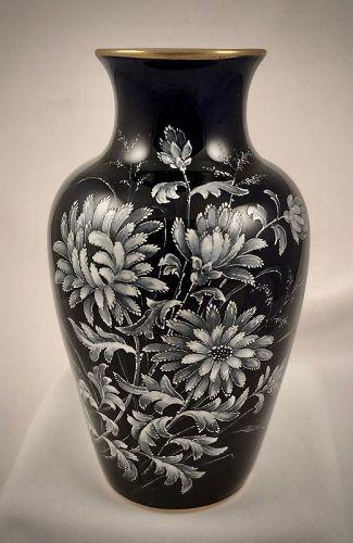 Antique Worcester Cabinet Vase, French Enamel