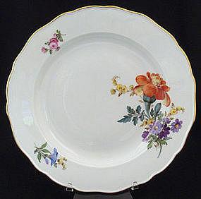 Lovely Meissen Floral Dinner Plate
