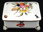 Herend Porcelain Box with Fruits & Flowers