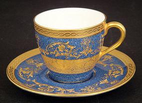 Royal Doulton Gilded Demitasse Cup & Saucer