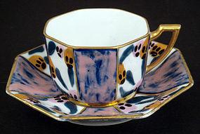 Art Deco Tharaud Limoges Tea Cup & Saucer