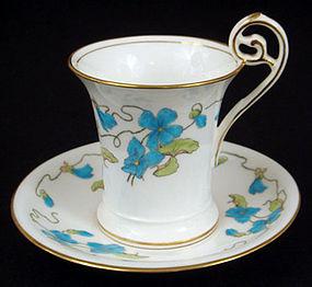Art Nouveau Mintons Chocolate Cup & Saucer