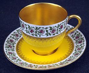 Vintage Royal Worcester Demitasse Cup & Saucer