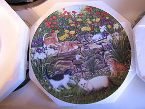Nancy Matthews Cat Plate