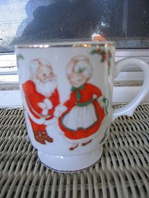 Lefton Santa and Mrs. Claus Mug