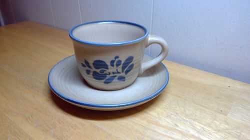 Pfaltzgraff Folk Art Cup and Saucer