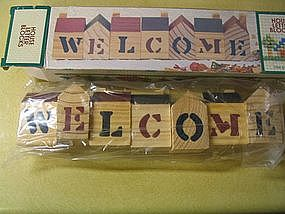 House Letter Blocks (Welcome)