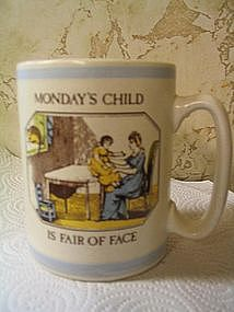 Pfaltzgraff Monday's Child Mug