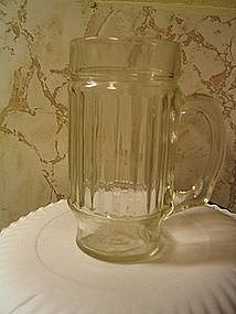 Ribbed Glass with Handle
