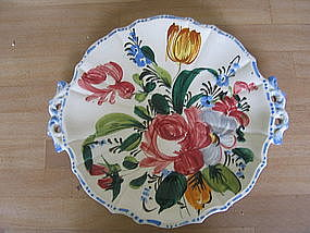Floral Plate from Italy