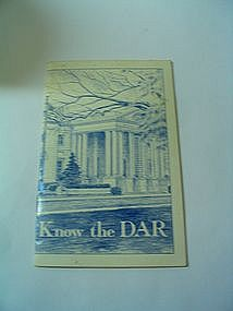 1980 Know the DAR Booklet
