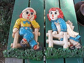 Raggedy Ann & Andy Wall Plaques
