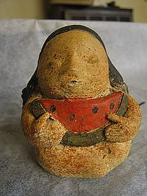 Stoneware Indian Girl with Watermelon