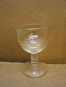 Vintage Ringed Cordial Glass